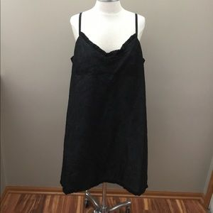Eileen Fisher Black Crepe Silk Dress